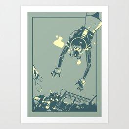 Treasure Diving Art Print