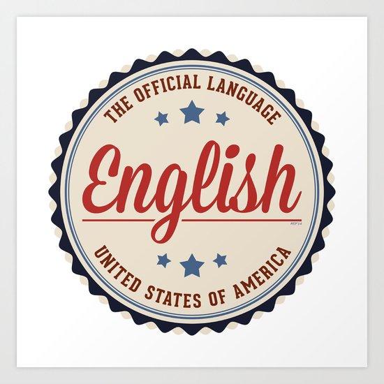 USA Official Language Art Print