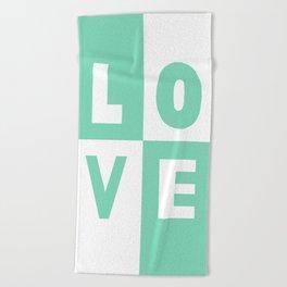 Love Mint Beach Towel