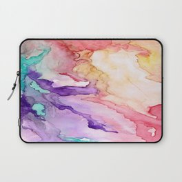 Color My World Watercolor Abstract Painting Laptop Sleeve