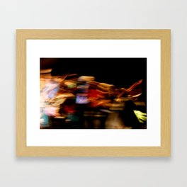 Make the lights dance and you'll never stop smiling Framed Art Print