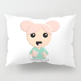 Yuko Sakura Kokeshi Doll Pillow Sham