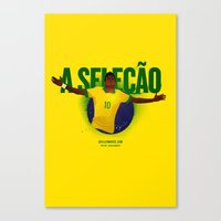 brasil Canvas Prints featuring Brasil by Skiller Moves