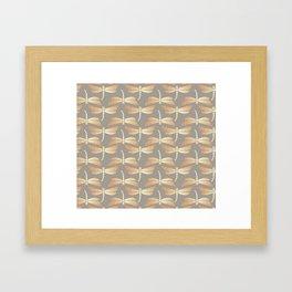Golden Dragonflies Pattern Framed Art Print