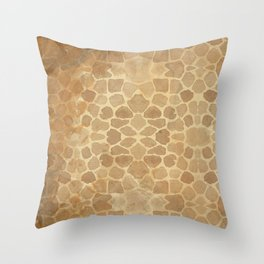 Vintage Giraffe Print (Color) Throw Pillow