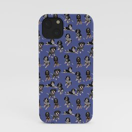 Bluetick Coonhounds on Blue iPhone Case