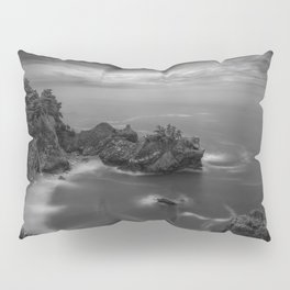 Big Sur, California Pacific Coast Highway coastal beach black and white photograph / art photography Pillow Sham