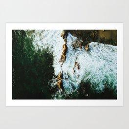 OCEAN - SEA - WATER - ROCKS - PHOTOGRAPHY Art Print
