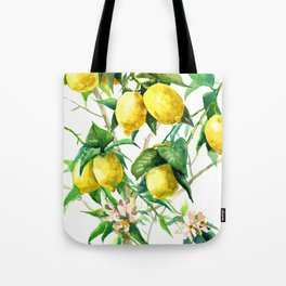 Lemon Tree. lemons kitchen art Tote Bag