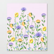 Aster Flora #pattern #society6 #flowers Canvas Print