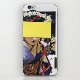 Geisha Denial Collage iPhone Skin