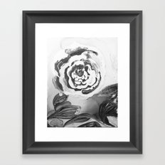 Mother's Day Roses Silver Year Black and White Framed Art Print