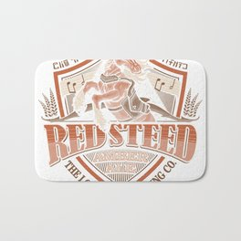 Red steed amber ale Bath Mat