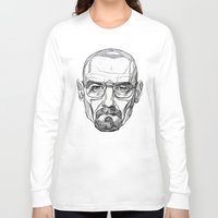 heisenberg Long Sleeve T-shirts featuring Heisenberg by Christina Patti