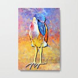Boat-billed Heron Metal Print