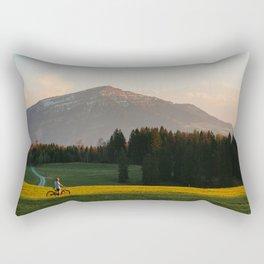 Sunset Bikeride Rectangular Pillow