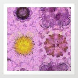 Zirkite Content Flower  ID:16165-022132-66350 Art Print
