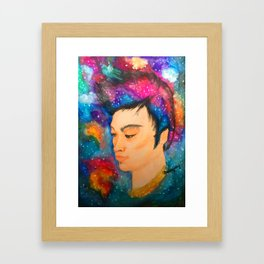 Galaxy Boy Framed Art Print