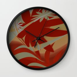 Colored Jungle Red Wall Clock