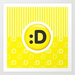 Yellow Writer's Mood Art Print