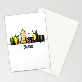Boston Massachusetts Watercolor City Stationery Cards