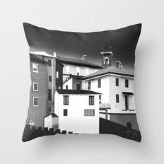 Castles at Night (B&W) Throw Pillow