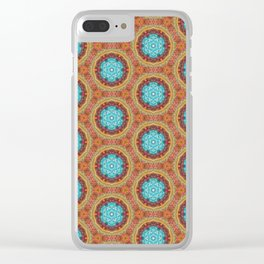blue stitches Clear iPhone Case