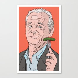 Bill Murray With Pickle Canvas Print
