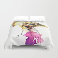 Sunset Peacock Duvet Cover