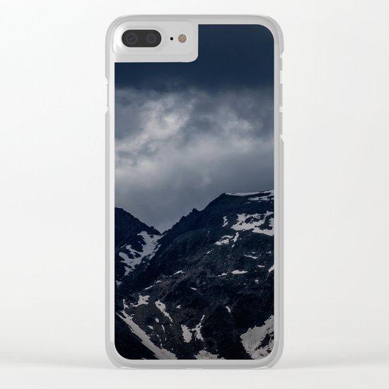 Dark Mountain mood Clear iPhone Case