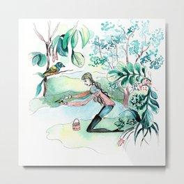 Help the birds in Winter Metal Print