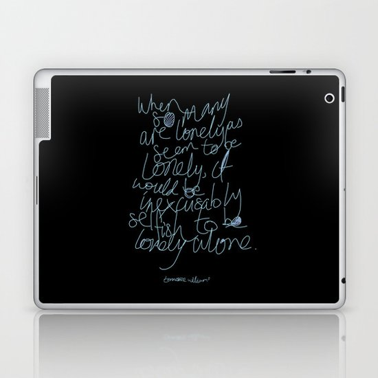 To be lonely alone Laptop & iPad Skin