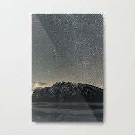 Stars over Lake Minnewanka Metal Print