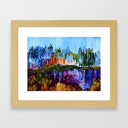 Siesta Lake Reflection Framed Art Print