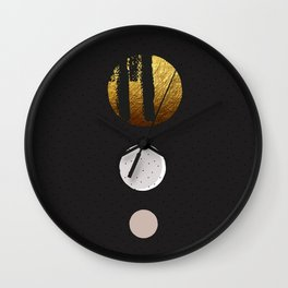 Muted Sophistication Wall Clock