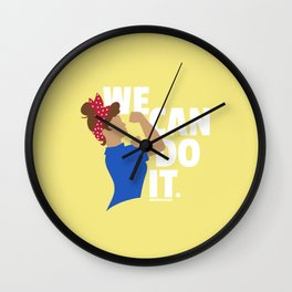 We Can Do It - Modern Rosie the Riveter Wall Clock
