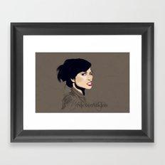 Gasoline Bride Framed Art Print