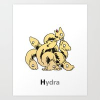 hydra Art Prints featuring Hydra by James Courtney-Prior