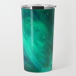 Teal Blue Indigo Sky, Stars, Space, Universe, Photography Travel Mug
