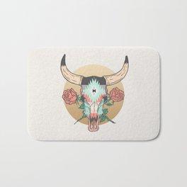 cráneo de vaca Bath Mat