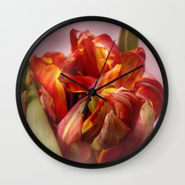 Tulip yellow and red colored Wall Clock