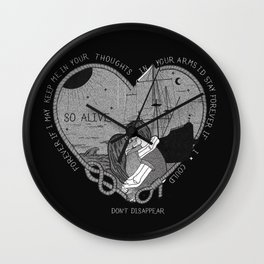"""So alive"" by Ryan Adams Wall Clock"