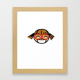Smiley Girl Framed Art Print