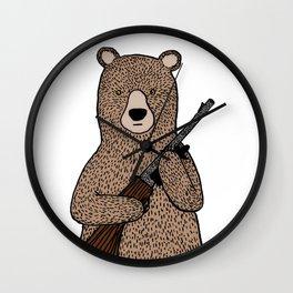 Danger bear color mode Wall Clock