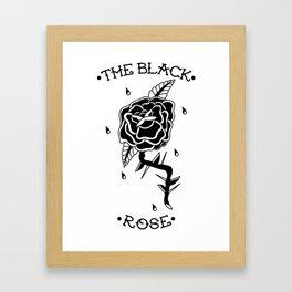 The Black Rose Framed Art Print