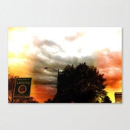 Welcomg to Lansing Canvas Print