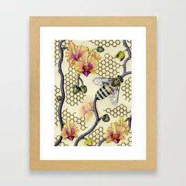 In Her Garden Framed Art Print