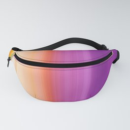 Abstract mixed stripes Gradient Warm Fanny Pack