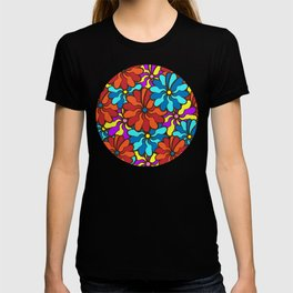 floral background. field of multi colored bright summer colors for the background T-shirt