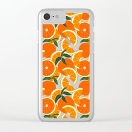 Orange Harvest - White Clear iPhone Case